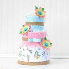 Girl Floral Baby Shower Diaper Cake Centerpiece Pink Paper Flowers by Baby Blossom Company Baby Shower Registry, Baby Shower Diapers, Baby Boy Shower, Cute Baby Shower Gifts, Baby Shower Themes, Shower Ideas, Baby Girl Gifts, New Baby Gifts, Burlap Baby Showers