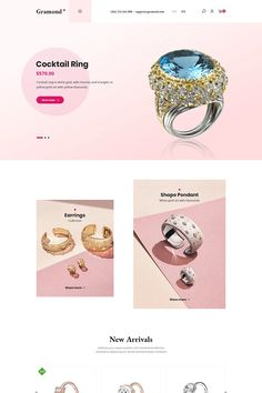 Gramond is a new theme of jewelry and Fashion. Integrated smart e-commerce. Meet many features of creating basic shop web. Besides, many advanced modules such Jewelry Shop, Jewelry Design, Ecommerce Template, Seo Optimization, Wordpress Plugins, Design Development, Cocktail Rings, Website Template, Diamond
