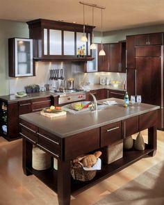 Milan Cherry, Espresso Wellborn Cabinet