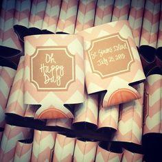 SnapWidget | Oh, Happy Day wedding koozies!