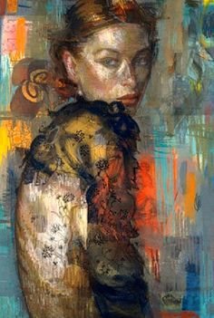 Charles DWYER - mixed media painting