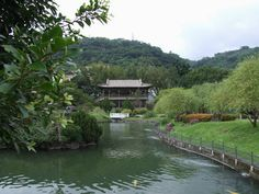 Naturalistic design of a Chinese garden