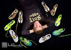 Senior pic idea Cross Country Track and Field photo Running shoes by Beth Forester Photography Country Senior Poses, Senior Boy Poses, Country Senior Pictures, Senior Guys, Senior Year, Outside Senior Pictures, Track Senior Pictures, Running Pictures, Senior Photos