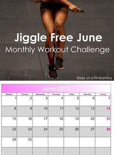 Jiggle-Free June Monthly Workout Challenge