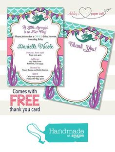 26 best baby shower gender reveal invitations images on pinterest aqua pink and purple under the sea mermaid baby shower invitation digital gender reveal invitationsbaby filmwisefo