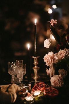 Moody wedding centrepieces paired roses and cosmos along with fall foliage, Spanish moss, fruits and pumpkins. Floral Wedding Decorations, Floral Centerpieces, Wedding Centerpieces, Wedding Table, Rustic Wedding, Wedding Flowers, Centrepieces, Chocolate Cosmos, Black Wedding Cakes