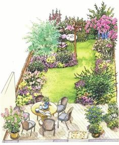 concepts backyard landscaping small fence for 2019 landscaping S . concepts backyard landscaping small fence for 2019 landscaping S . Small Garden Plans, Garden Design Plans, Home Garden Design, Small Garden Design, House Design, Small Garden Layout, Patio Layout, Yard Design, Small Garden Landscape