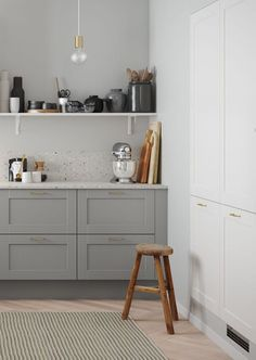Discover a classic country kitchen with a stylish and modern design like that of Shaker White from HTH here. Kitchen Cost, Ikea Play Kitchen, Home Decor Kitchen, Country Kitchen, New Kitchen, Home Kitchens, Scandinavian Kitchen Products, Terrazzo, Home Interior