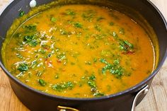 Kalyn's Kitchen®: Spicy Vegetarian Butternut Squash Soup Recipe with Black Beans, Red Bell Pepper, and Cilantro