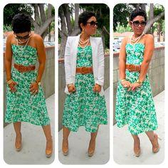 Today's Look: DIY Dress + Zara Blazer  www.mimigstyle.com