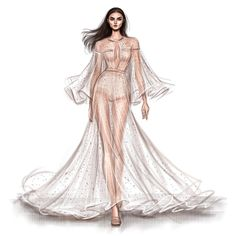 How to Draw a Fashionable Dress - Drawing On Demand Dress Design Sketches, Fashion Design Sketchbook, Fashion Design Drawings, Fashion Sketches, Drawing Designs, Art Drawings, Portfolio Mode, Fashion Portfolio, Fashion Drawing Dresses