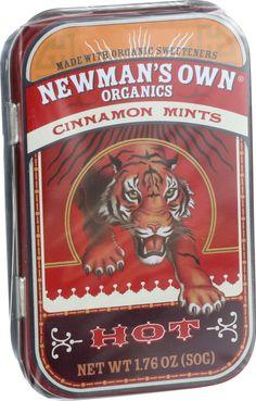 Newman's Own Organics Mints - Organic - Cinnamon - 1.65 oz - Case of 6