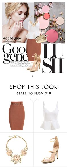 """Romwe 5/1"" by dinna-mehic ❤ liked on Polyvore featuring Gemma Simone, Love Moschino and romwe"