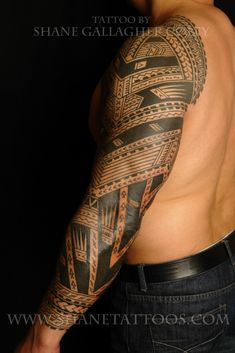 SHANE TATTOOS Polynesian/Samoan Sleeve Tattoo On Sonny Picture