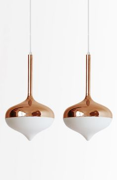 Spun Rose Gold Pendants #furniturehunters