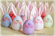 Funny Easter Bunny Eggs – a free tutorial on the topic: Toys ✓DIY ✓Steps-By-Step ✓With photos Funny Easter Bunny, Easter Bunny Eggs, Easter Crafts, Felt Crafts, Diy And Crafts, Spring Crafts, Holiday Crafts, Spring Birds, Diy Ostern