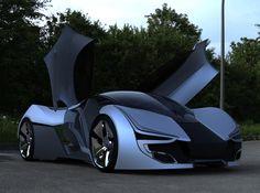 Futuristic Aerius Concept Car by Yanko Design