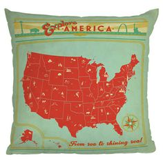 Anderson Design Group Explore America Pillow