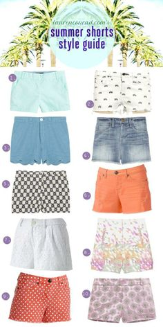 10 pairs of summery shorts (perfect for patio margaritas!) that you will want in your closet now! #spring #fashion #sauza