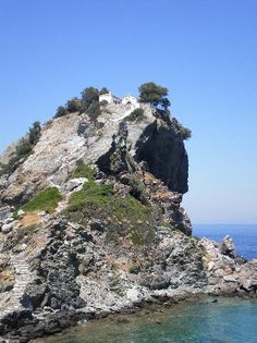 Skopelos, Greece - place where the wedding was filmed in Mama Mia!