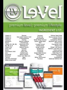 Thrive ingredients  https://cecilymyers.le-vel.com/