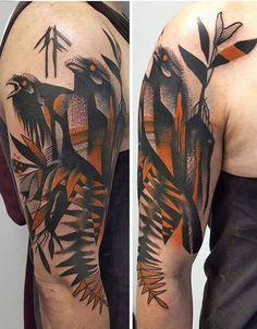 Marine Perez bird tattoo