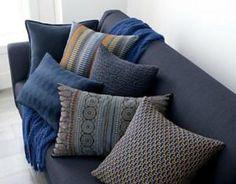Indigo with autumn colours!!! (indigo pillows - Crate and Barrel)