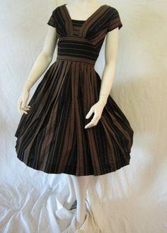pat hartly striped dress