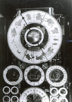 Rasmus Sørnes Clock - the last of a total of four astronomical clocks designed and made by Norwegian Rasmus Sørnes (1893–1967). Features include locations of the sun and moon in the zodiac, Julian calendar, Gregorian calendar, sidereal time, GMT, local time with daylight saving time and leap year, solar and lunar cycle corrections, eclipses, local sunset and sunrise, moon phase, tides, sunspot cycles  and the 25 800 year period of the polar ecliptic (precession of the Earth's equinoxes).
