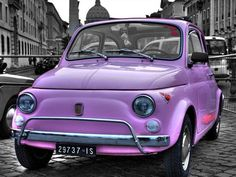 Cute Car, beautiful, car, cars, city, cute, Fiat, heart, hearts, Italy ...