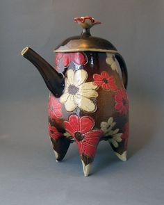 Daisy Teapot Kathryn Ransom Ceramic Art