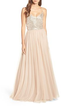 A styled wedding look with a bridesmaid dress for a wedding featuring a sequined bridesmaid dress by JS Collections, gold accessories, and many other sequined dresses to choose from for your wedding party.