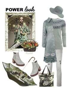 """Signature Power Look"" by ragnh-mjos ❤ liked on Polyvore featuring Diesel, Penfield, Paskal, Pasotti Ombrelli, Karen Kane and Edge Only"