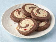 Chocolate Peppermint Pinwheel Cookies Recipe : Alton Brown : Food Network - FoodNetwork.com