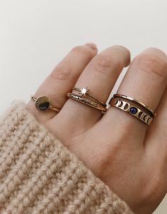 Overload Studios - 14kt solid gold ringstackers
