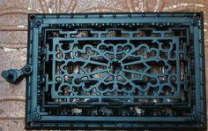 Antique Wall Heat Register Grate Cast Iron
