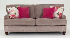 Vida Living Sherlock 3 Seater Fabric Sofa - Mink