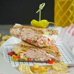 Grilled Turkey Pepper Jack Sandwich