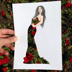 Armenian fashion illustrator Edgar Artis uses stylized paper cut outs and everyday objects to create beautiful dresses. His creative fashion sketches include such items as rose petals, various plants and food, even buildings. Art And Illustration, Illustrations, Arte Fashion, Cut Out Art, Dress Sketches, Drawing Artist, Fashion Design Sketches, Decoration Design, Simple Art
