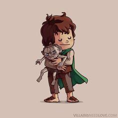 Frodo and smeagle: lotr