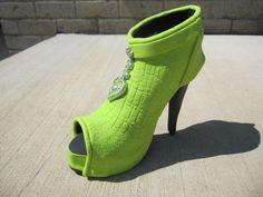 Peep Toe Boot Shoe - Cake by WhimsicalCharacters