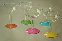 Painted Champagne Glasses - so cute