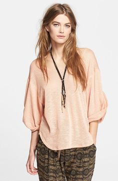 Free People 'Nani' Oversize Tee available at #Nordstrom