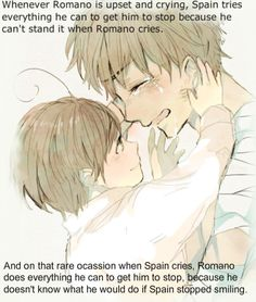 Romano Spain. Spain Romano. Oh would you look at that? There goes my heart, out the window to OTP heaven.