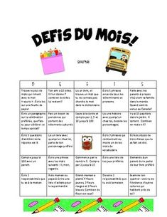 Monthly Homework French Immersion Grade 1/2 French Immersion, Months In A Year, Grade 1, Homework, Challenges, Student, Teaching, Education, Onderwijs
