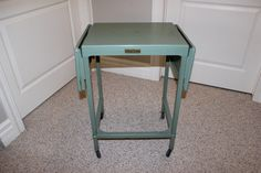 Vintage 60's Tiffany Stand Co Typewriter Table Stand Fold Out Leaves Rolling   eBay
