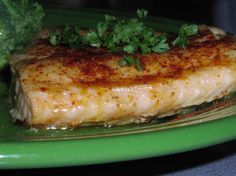Baked, seasoned salmon