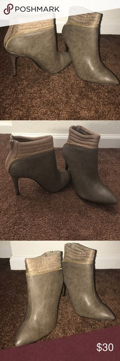 Brand New Ankle Boots NWOT Ankle Boots with gold Zipper lining Shoes Ankle Boots & Booties