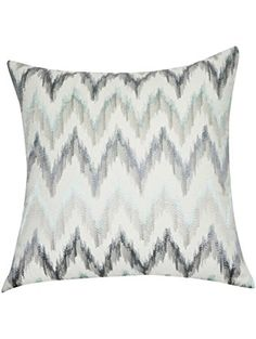 Loom and Mill P0195-2121P Chevron Decorative Pillow, 21-Inch, Blue ❤ Loom & Mill