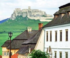 One of the largest castle area in central Europe - Spišský Hrad - as seen from oposite Spišská Kapitula religious quarter.